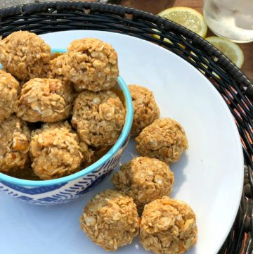 oatmeal ball that are sweet and salty, no-bake