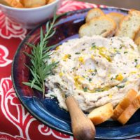 garlic & herb white bean dip