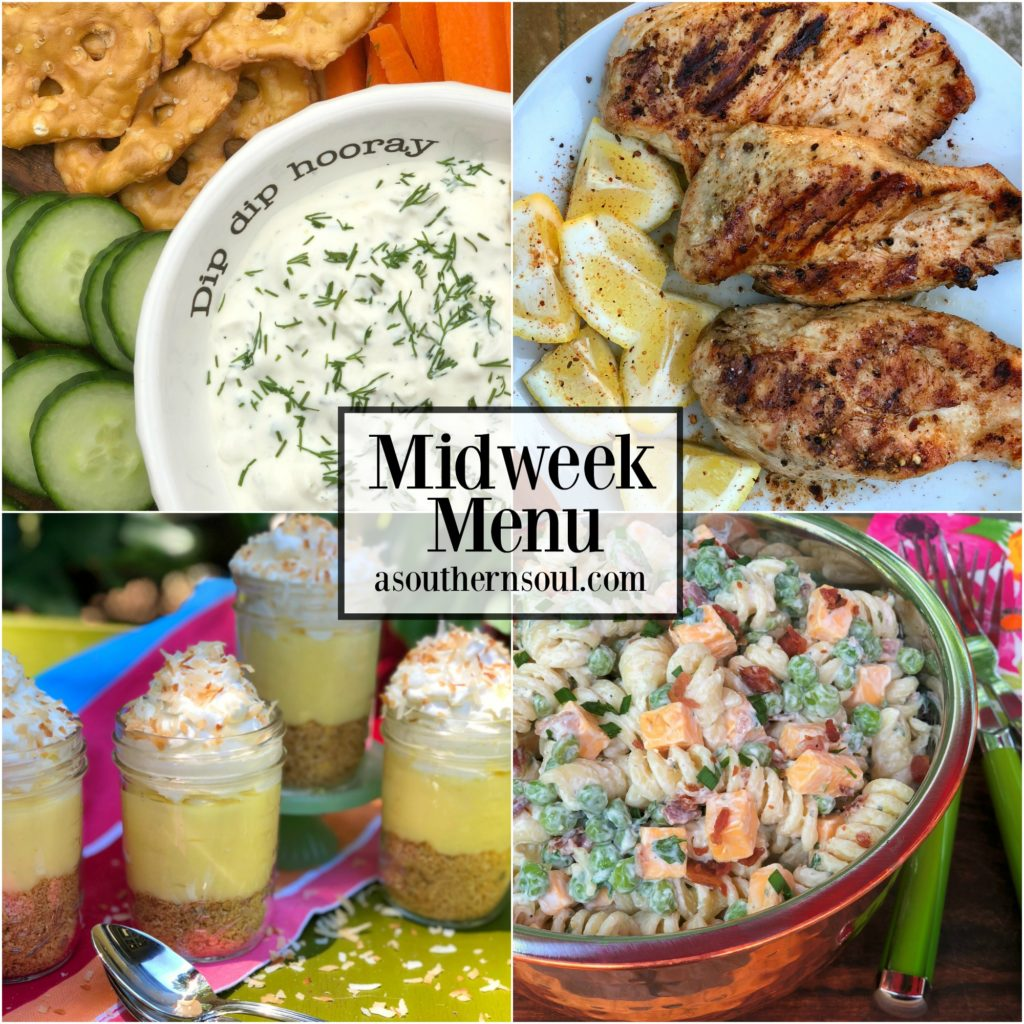 Midweek Manu #18 with Lemon Pepper Grilled Chicken