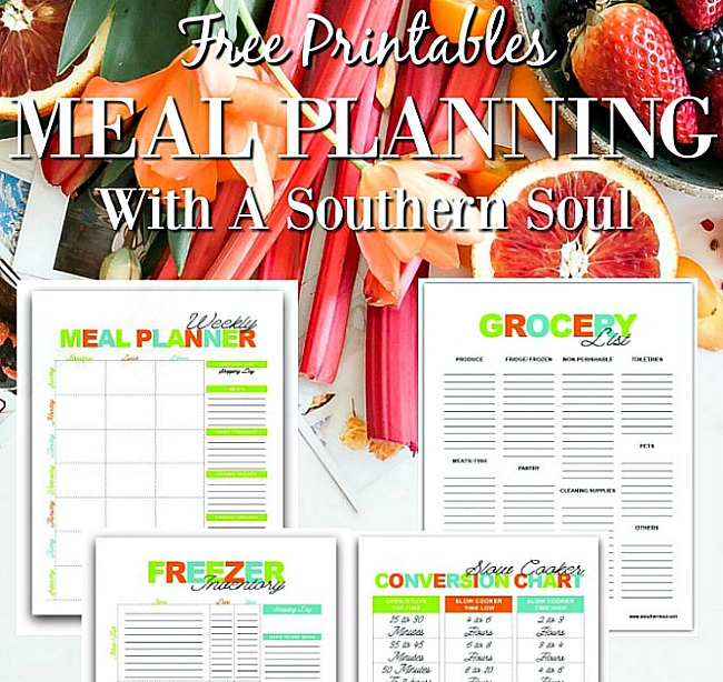Free meal planning printables to stay organized