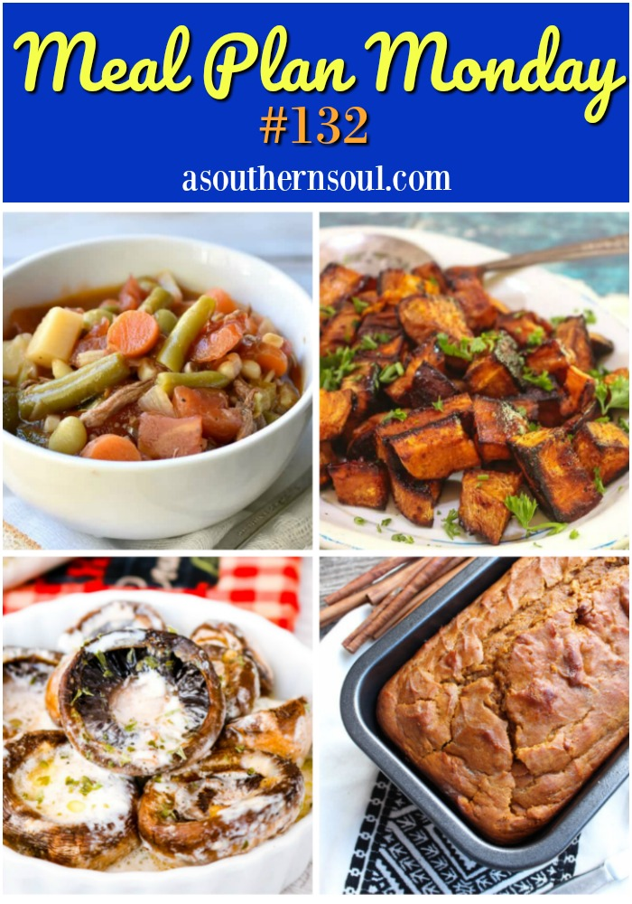 Meal Plan Monday #132 recipe link up has breakfast, lunch and supper recipes plus great desserts to help you cook for your family and friends