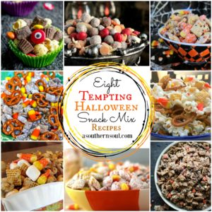 Eight fun, sweet & savory Halloween snack mix recipes that everyone will love.