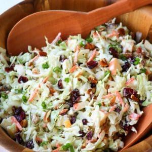 Cranberry Pecan Slaw is a side dish or easy to make salad.