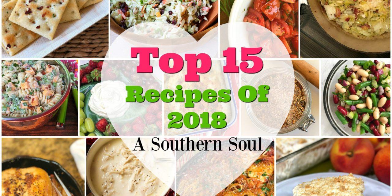 Top 15 Recipes of 2018!