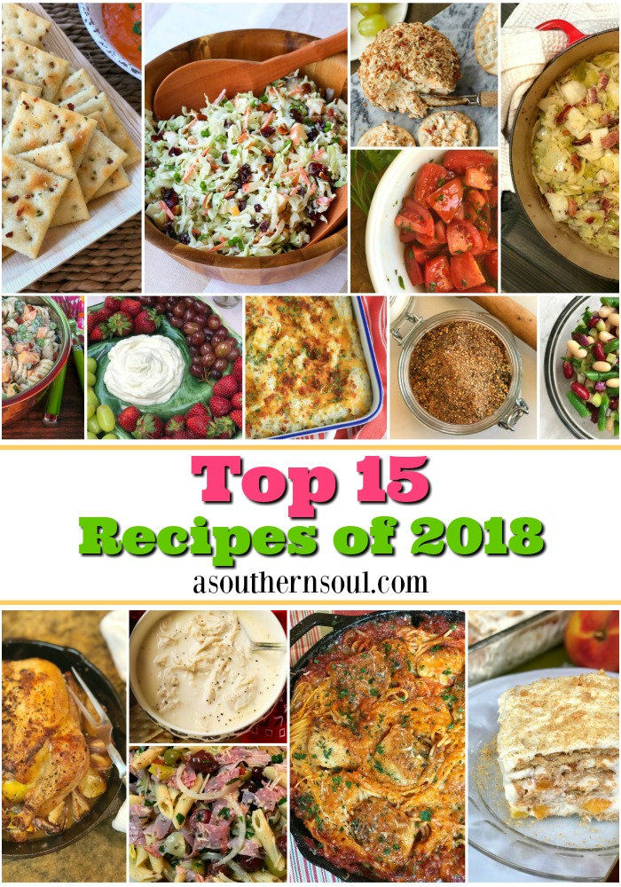 The top 15 reader's pick recipes from 2018! Salads, dessert and chicken were the favorites!