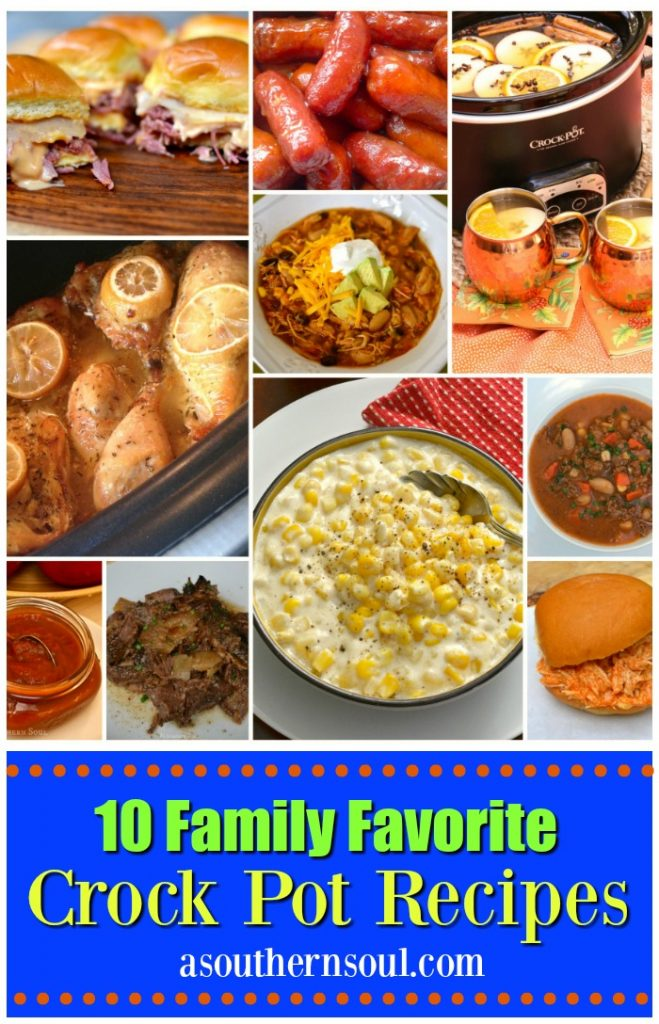 10 Crock Pot recipes that are excellent to serve any night of the week for menu planning.