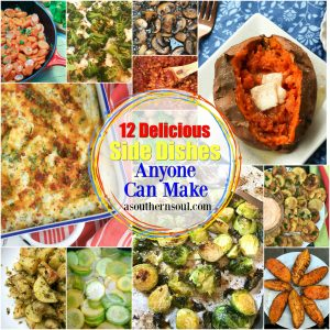 Twelve Simply Delicious Side Dishes Anyone Can Make is a collection of great recipes that will become your go to recipes for any time of the year or occasion.