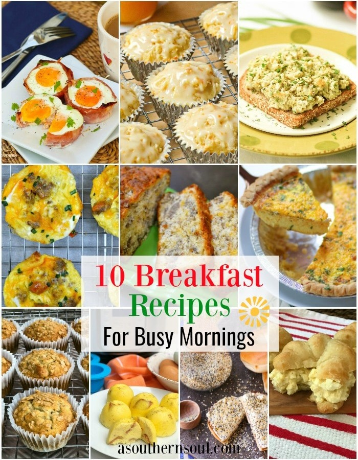 10 Recipes for busy mornings is a collection of easy to make dishes guaranteed to get your day off to a good start.