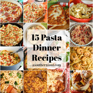 15 Pasta Dinner Recipes that are easy to make and delicious to eat. Casseroles, one pot dishes and soup along with vegetarian options are in this yummy collection.