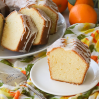 Orange Pound Cake made with fresh squeezed orange juice and zest is a delicious dessert to enjoy any time of year! This buttery, sweet cake is surprisingly easy to make and and will disappear quickly.