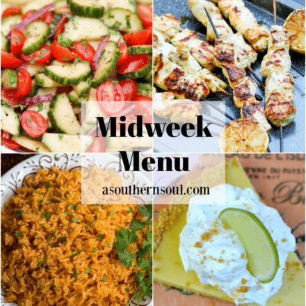 Midweek Menu #94 – Grilled Greek Chicken Skewers