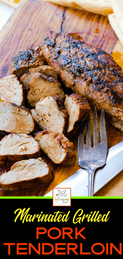 Grilled Pork Tenderloin marinated in olive oil, balsamic vinegar, dried italian seasoning and garlic is tender and juicy. This easy to make recipe is great for a weeknight meal or when you're having guests.