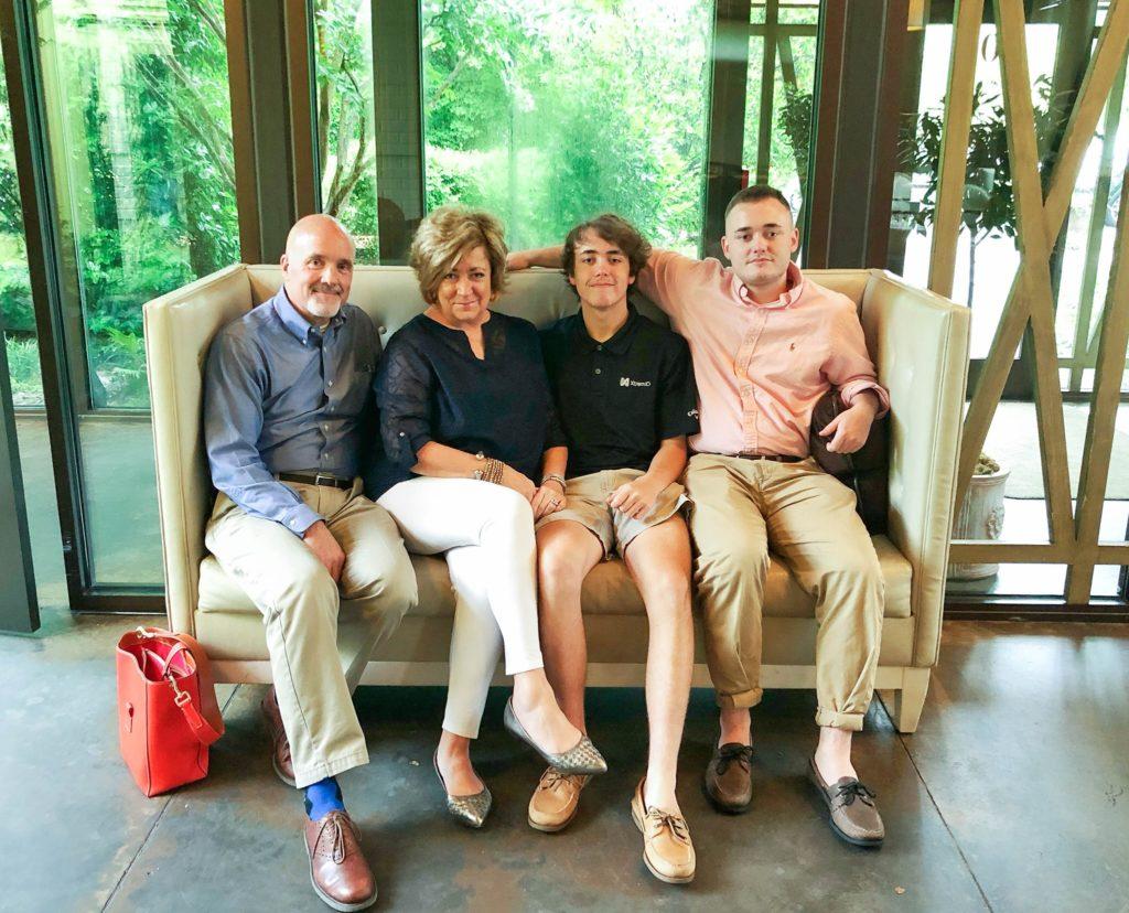 Rob, Donya, Hunter and Creed Mullins