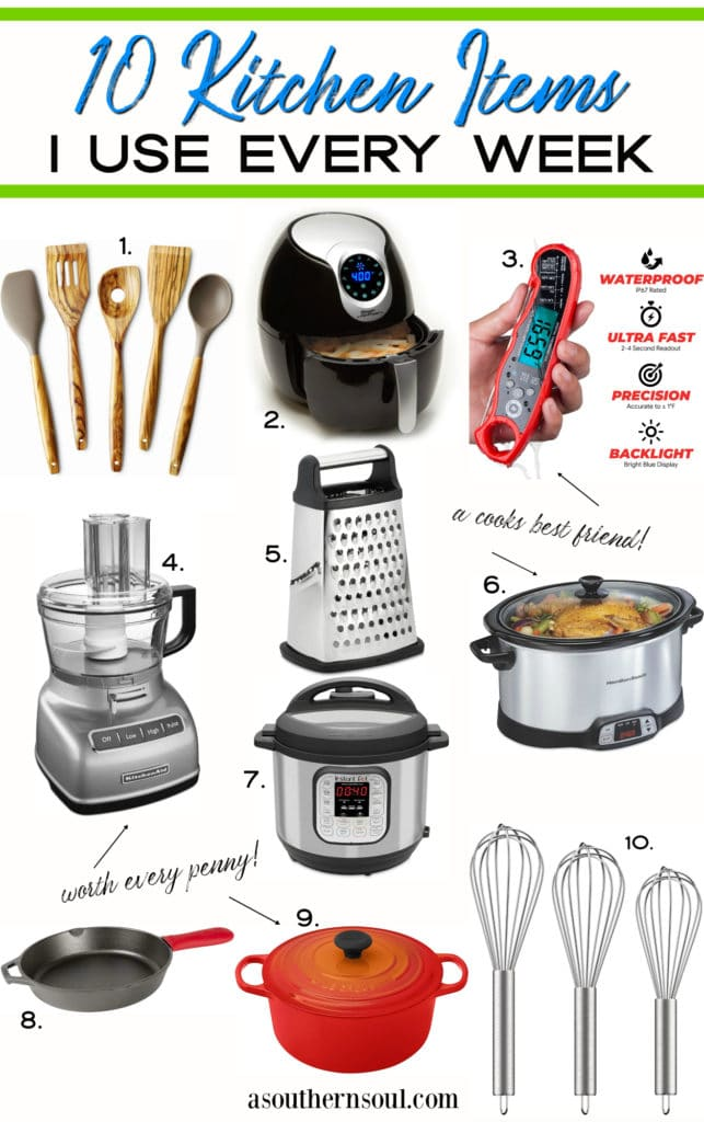 10 kitchen items for the home cook collage