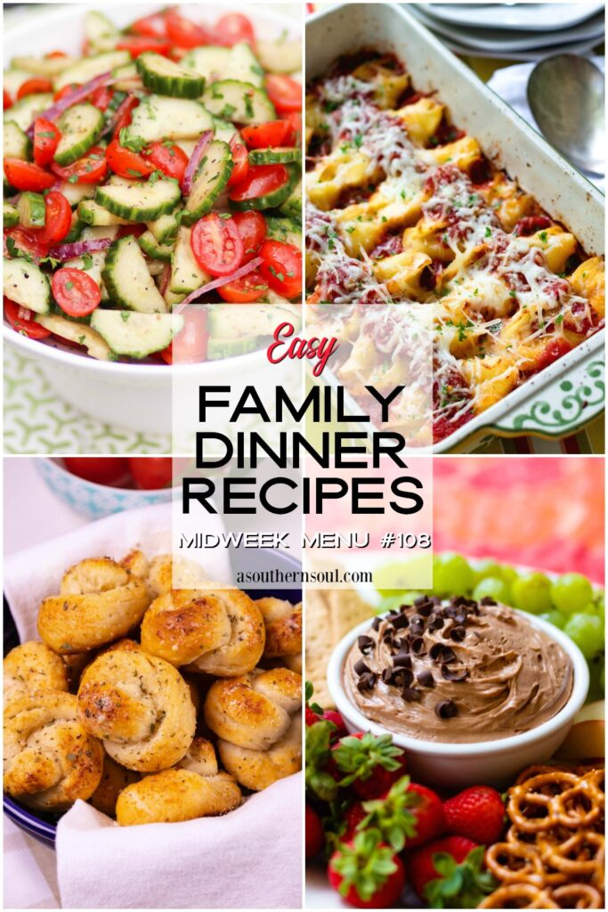 Midweek Menu #108 easy family dinner recipes.