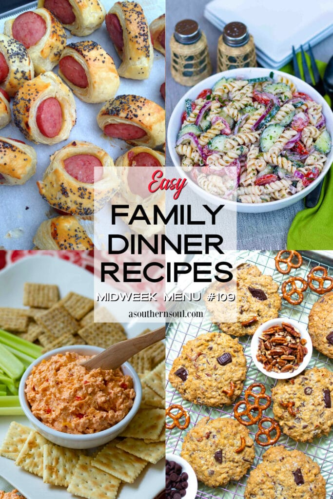 Easy Family Dinner Recipes for Midweek Menu #109 roundup.
