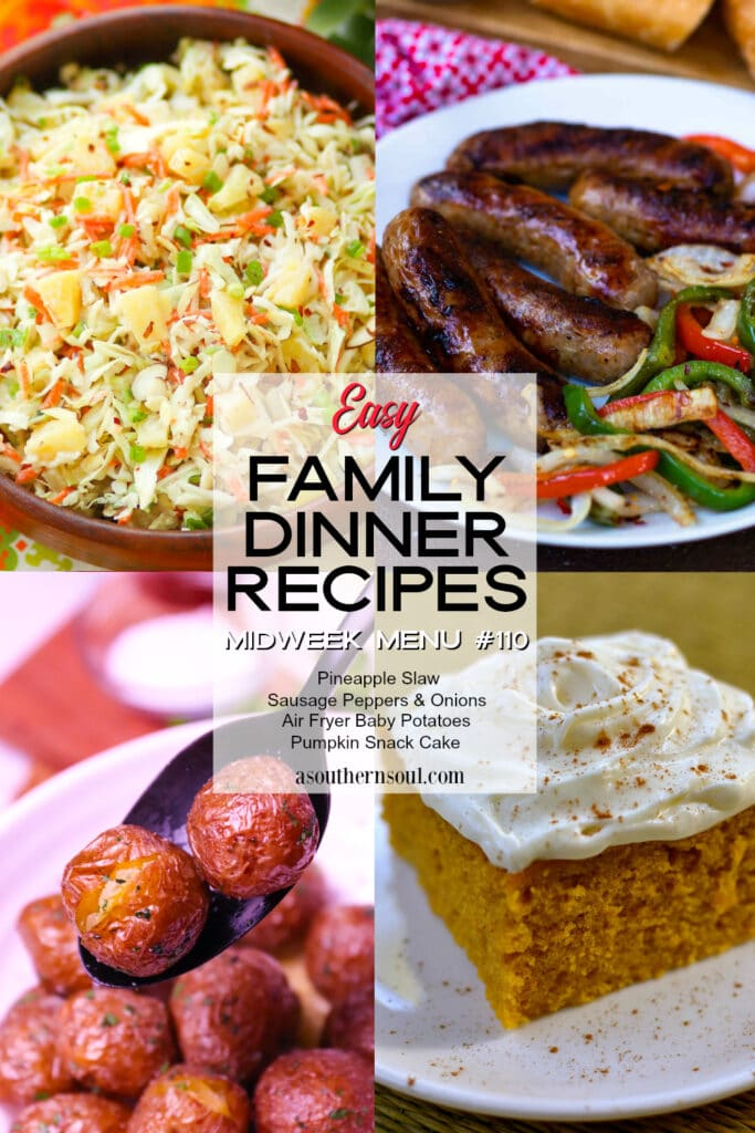 Midweek Menu #110 has 4 easy family dinner recipes that any home cook can make.