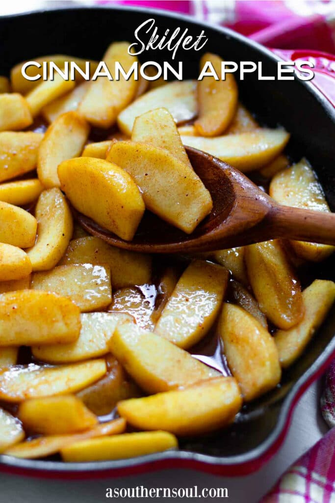 Skillet Cinnamon Apples are sweet and easy to make. They are the perfect side dish at the holidays.