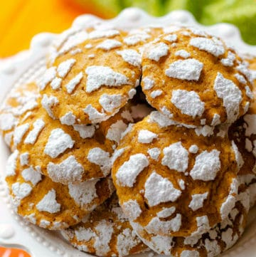 Pumpkin Crinkle Cookies made with simple ingredients are the best cookie for fall.