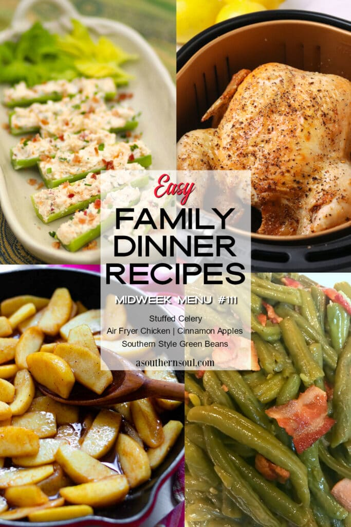 Midweek Menu #111 features four easy to make family dinner recipes.