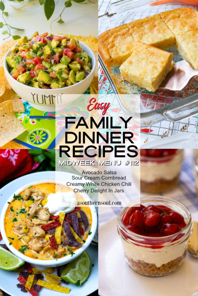 Easy to make family dinner recipes are in Midweek Menu #112.