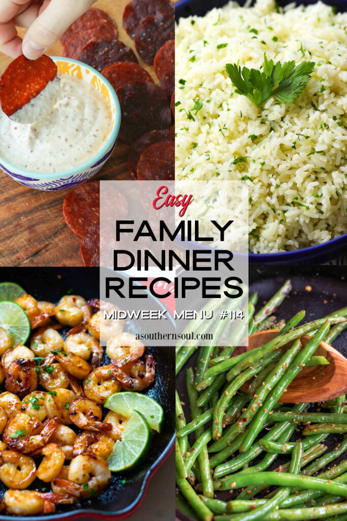 Midweek Menu #114 features 4 easy to make recipes to help you get a home cooked meal on the table.