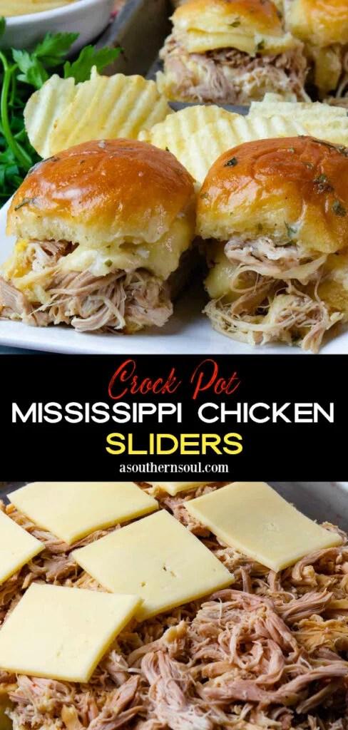 Crock Pot Mississippi Chicken 2 image Pin for Pinterest.