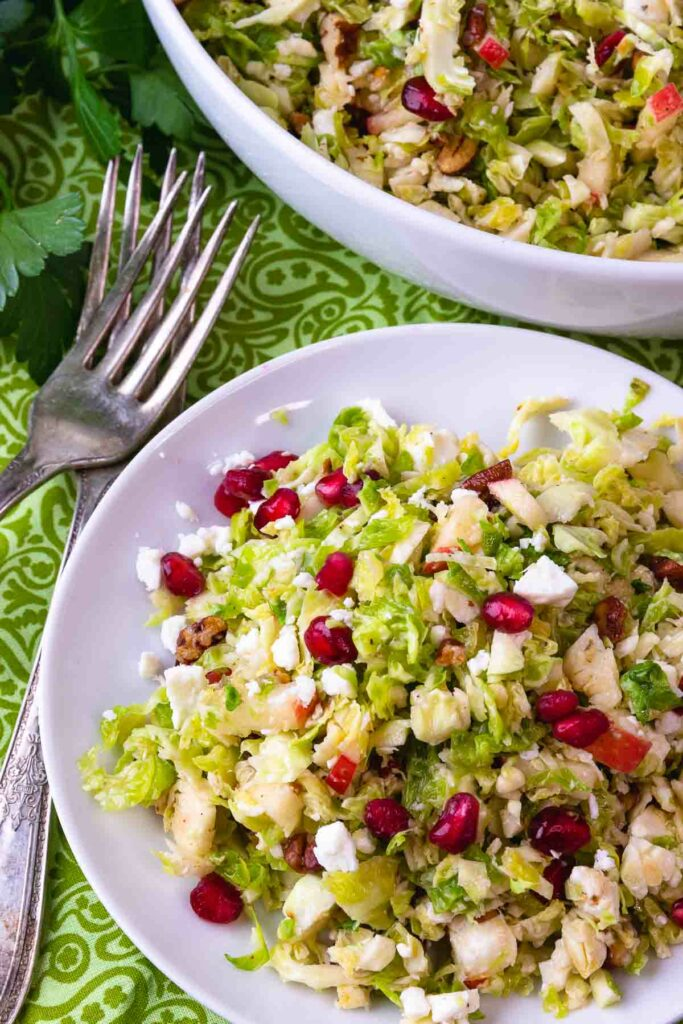 Brussels Sprouts Slaw is easy to make with just 5 ingredients.