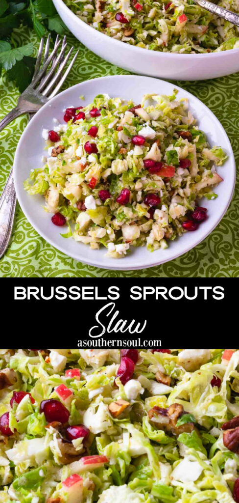 Brussels Sprouts Slaw 2 images for Pinterest.