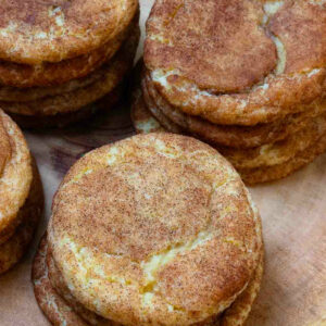 Stacks of The Best Snickerdoodle Cookies are easy to make and totally delicious.