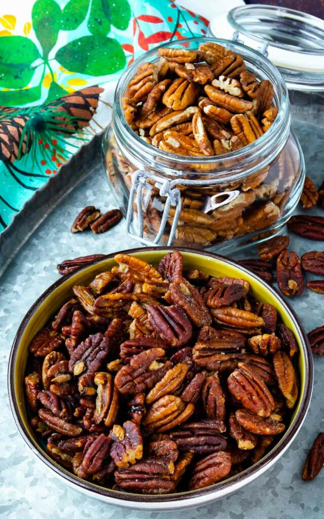 How To Toast Pecans from raw to delicious on the stove top or in the oven.