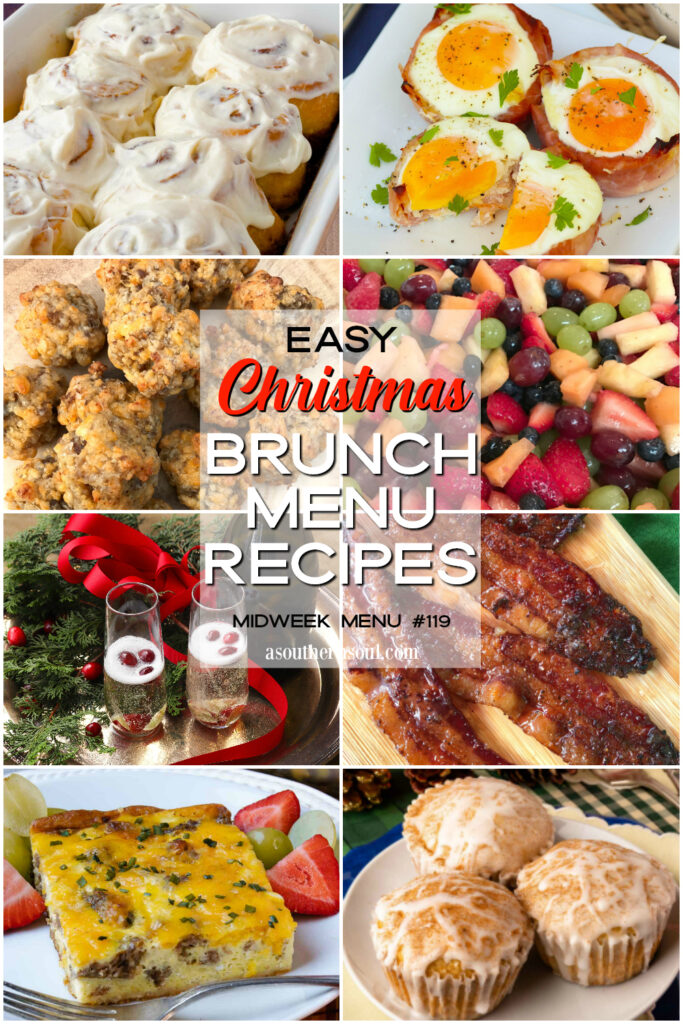 Eight easy to make Christmas Brunch Menu Recipes that your family will love!