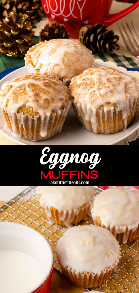Eggnog Muffins 2 images for Pinterest Pin