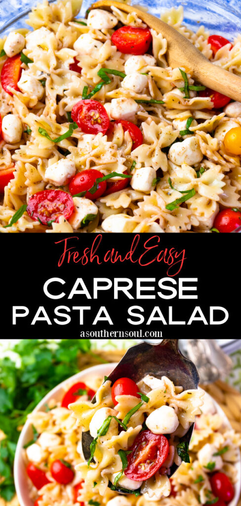 The Best Caprese Pasta Salad is fresh and easy to make.