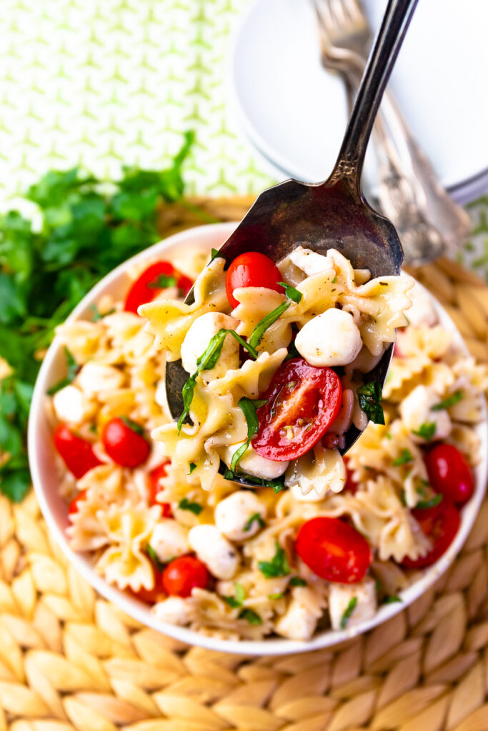 Caprese Pasta Salad is the perfect salad or side dish and is fresh and easy to make.