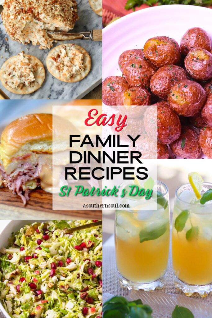 Midweek Menu #130 with 5 recipes that are perfect for St. Patrick's Day!