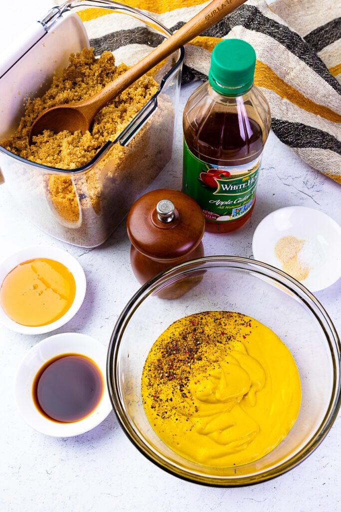 Ingredients for Carolina Gold BBQ Sauce