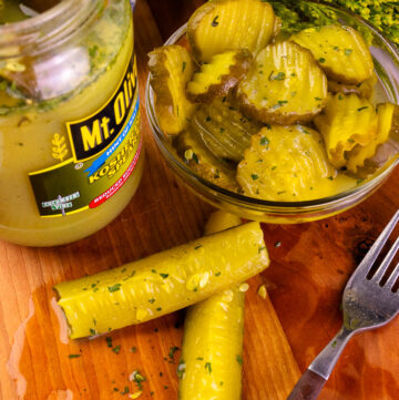 Ranch Dill Pickle Spears and Chipe for snacks or sandwiches.