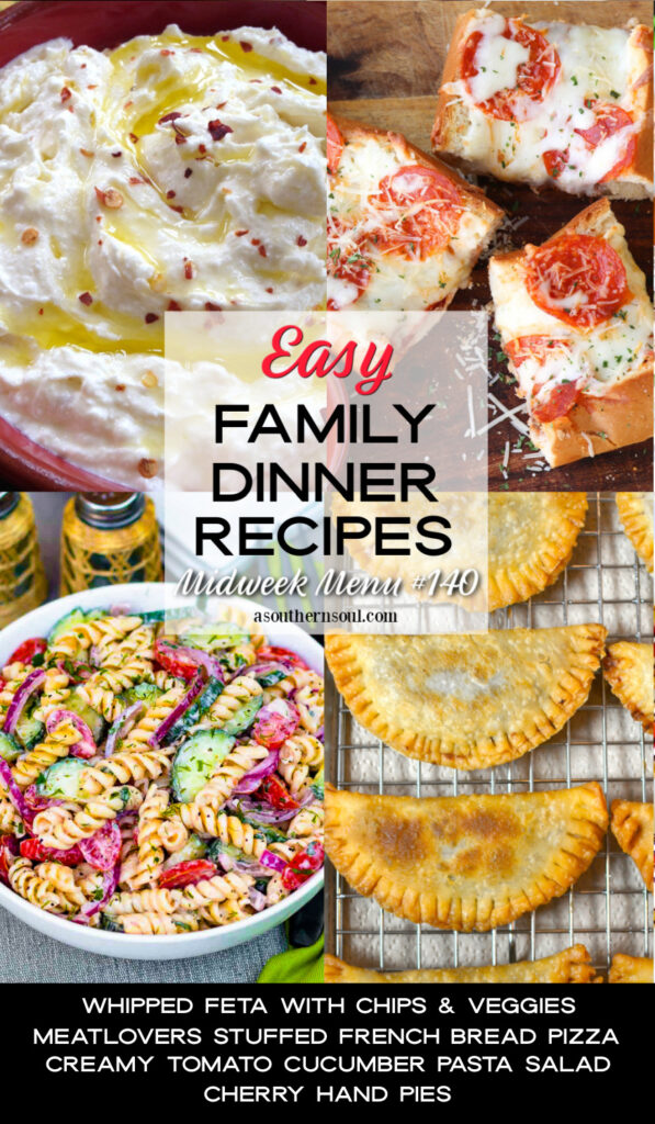 4 easy to make family dinner recipes for Midweek Menu #140