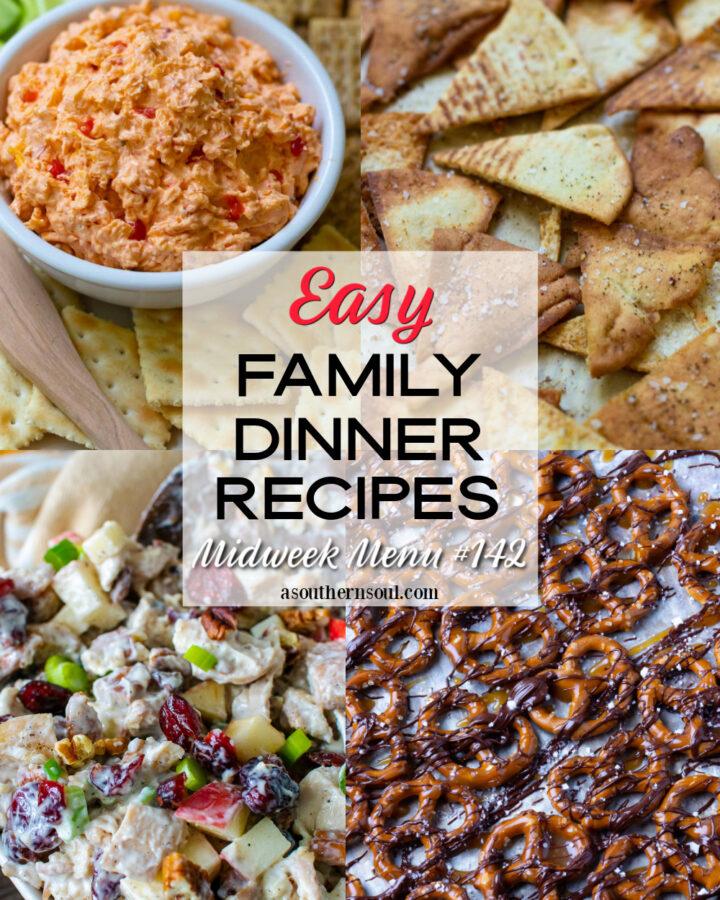 4 Easy Family Dinner Recipes in Midweek Menu #132