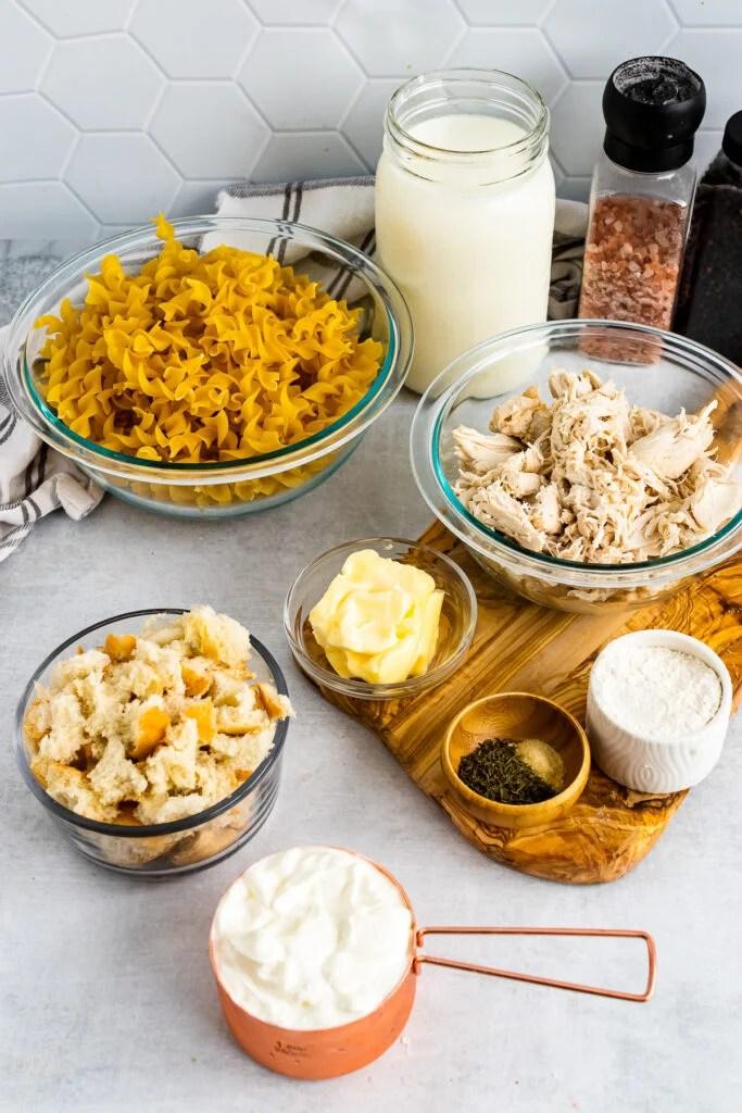 7 ingredients for Creamy Chicken Casserole.