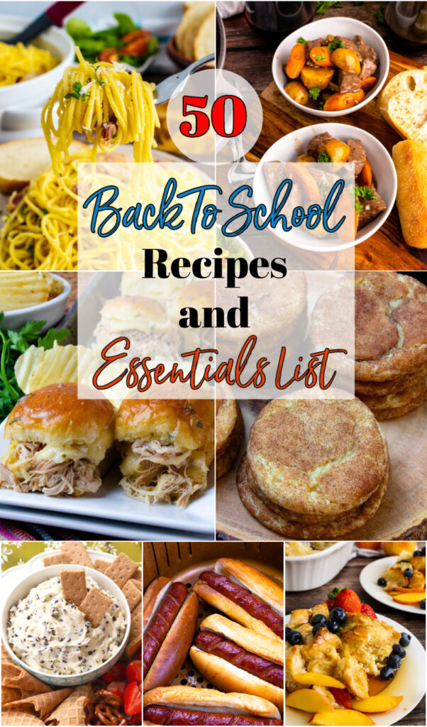 50 Back To School Recipe and an Amazon Round up images