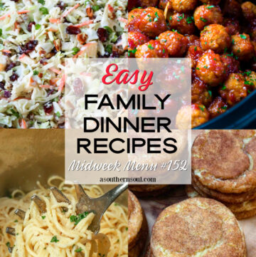Midweek Menu #152 has four family dinner recipes that are all easy to make.