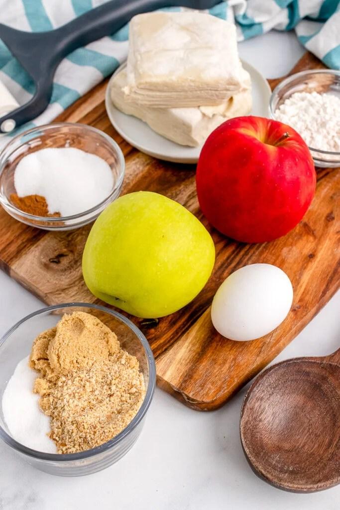 Ingredients for Apple Strudel.