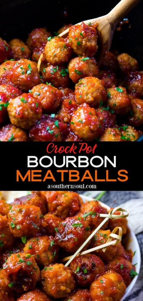 Bourbon Meatballs 2 photos for Pinterest
