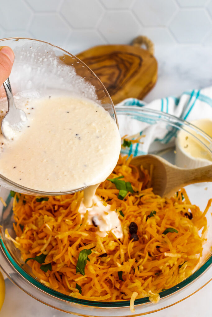 Creamy dressing for Carrot Apple Salad.