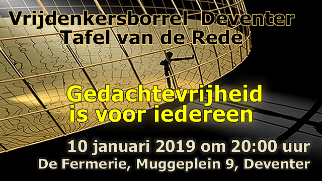 Tafel van de Rede 10 januari 2019 te Deventer.