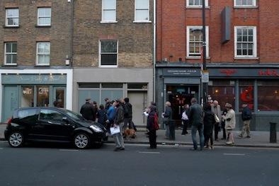 On Chalton Street with locals.