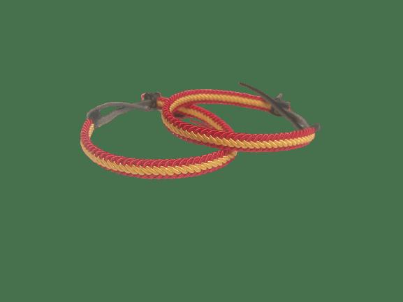 Pulsera trenzada bandera de España - A Spanish Bite