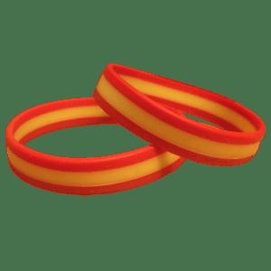 Pulsera bandera de España - Goma - A Spanish Bite